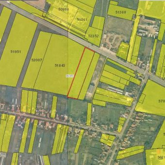 Spre vânzare un teren industrial în zona Borș  la soseaua principal